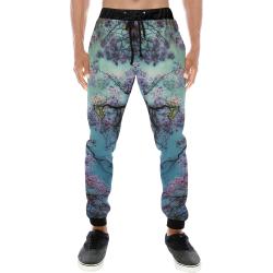 Cherry blossomL Men's All Over Print Sweatpants (Model L11)