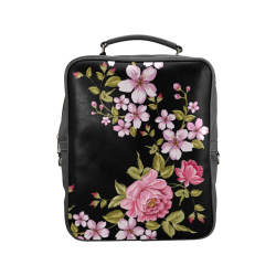 Pure Nature - Summer Of Pink Roses 1 Square Backpack (Model 1618)