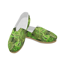 Tropical Jungle Leaves Camouflage Unisex Casual Shoes (Model 004)