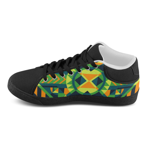 Modern Geometric Pattern Men's Chukka Canvas Shoes (Model 003)