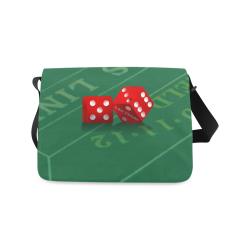 Las Vegas Dice on Craps Table Messenger Bag (Model 1628)