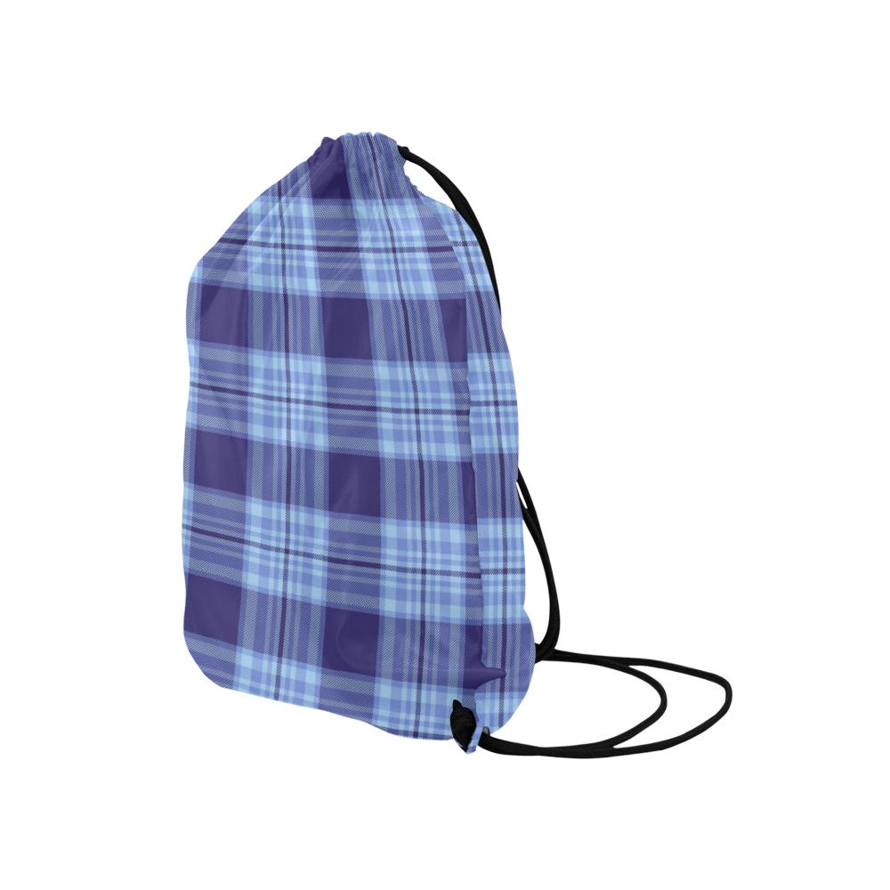 "STRIPES LIGHT BLUE Medium Drawstring Bag Model 1604 (Twin Sides) 13.8""(W) * 18.1""(H)"