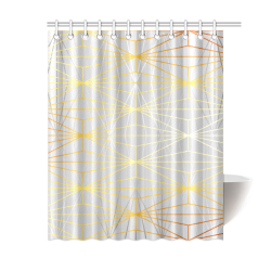 "ELEGANT SILVER GOLD DIAMONDS-1SC8 Shower Curtain 60""x72"""