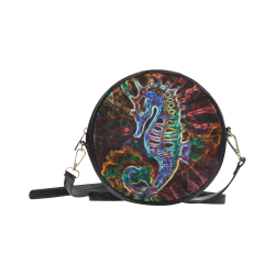 Black Light Darkhorse Demon Gothic Darkstar Round Sling Bag (Model 1647)