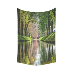 """Canal Dreams Cotton Linen Wall Tapestry 60""""x 90"""""""
