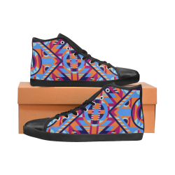 Modern Geometric Pattern High Top Canvas Women's Shoes/Large Size (Model 002)
