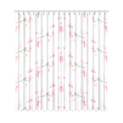 """Pattern Orchidées Window Curtain 50""""x108""""(Two Piece)"""