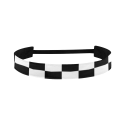 Black White Checkers Sports Headband