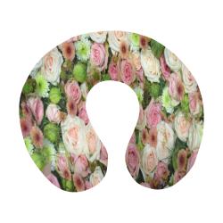 Pastel Pink Roses U-Shape Travel Pillow