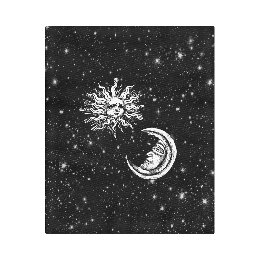 "Mystic  Moon and Sun Duvet Cover 86""x70"" ( All-over-print)"