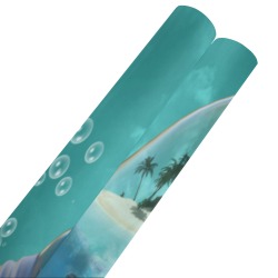 """Awesome light bulb with island Gift Wrapping Paper 58""""x 23"""" (2 Rolls)"""