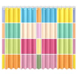 "Playful Springtime Checkers Window Curtain 50""x84""(Two Piece)"