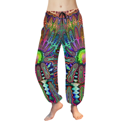 Beatnik Acid Rainbow Women's All Over Print Harem Pants (Model L18)