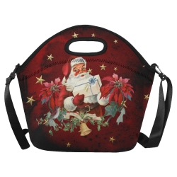 Santa Claus with gifts, vintage Neoprene Lunch Bag/Large (Model 1669)