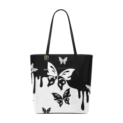 Animals Nature - Splashes Tattoos with Butterflies Euramerican Tote Bag/Small (Model 1655)