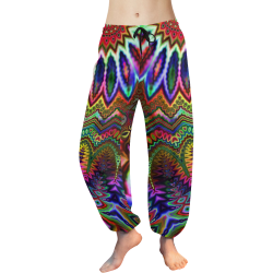 Free Spirit Acid Rainbow Women's All Over Print Harem Pants (Model L18)