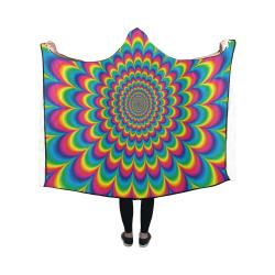 Crazy Psychedelic Flower Power Hippie Mandala Hooded Blanket 50''x40''