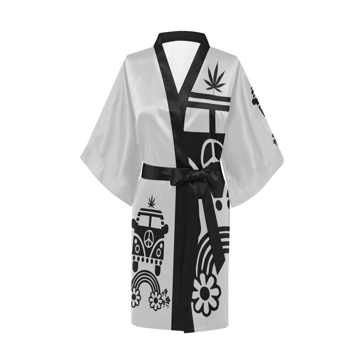 HIPPIE CANNABIS 70s 60s Kimono Robe