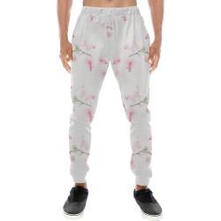 Pattern Orchidées Men's All Over Print Sweatpants (Model L11)