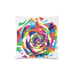 "Rainbow Rose Custom Zippered Pillow Case 20""x20""(Twin Sides)"