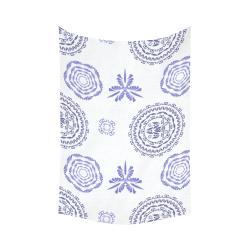 "geometric fantasy Cotton Linen Wall Tapestry 60""x 90"""