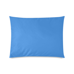 "Deep Sky Blue Custom Zippered Pillow Case 20""x26""(Twin Sides)"