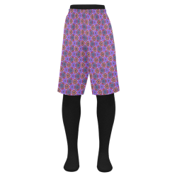 Purple Doodles - Hidden Smiles Men's Swim Trunk (Model L21)