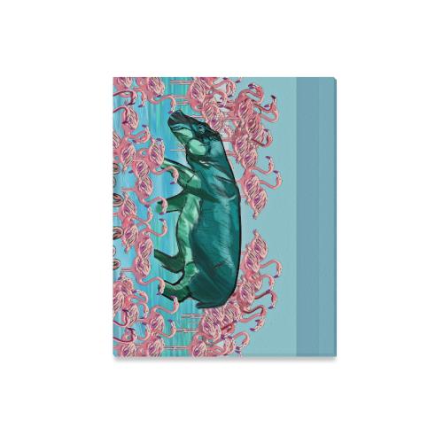 "Hip Flamingos Canvas Print 20""x16"""