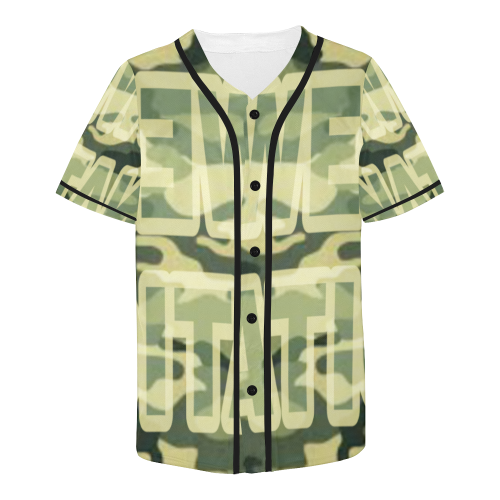 Sweep Nation - Army All Over Print Baseball Jersey for Men (Model T50)