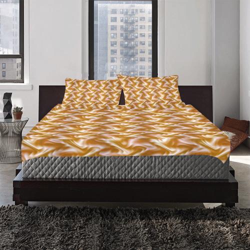 Chocolate Silk Rumple 3-Piece Bedding Set