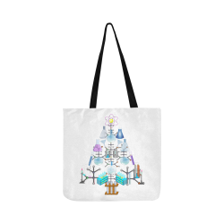 Oh Chemist Tree, Oh Chemistry, Science Christmas Reusable Shopping Bag Model 1660 (Two sides)