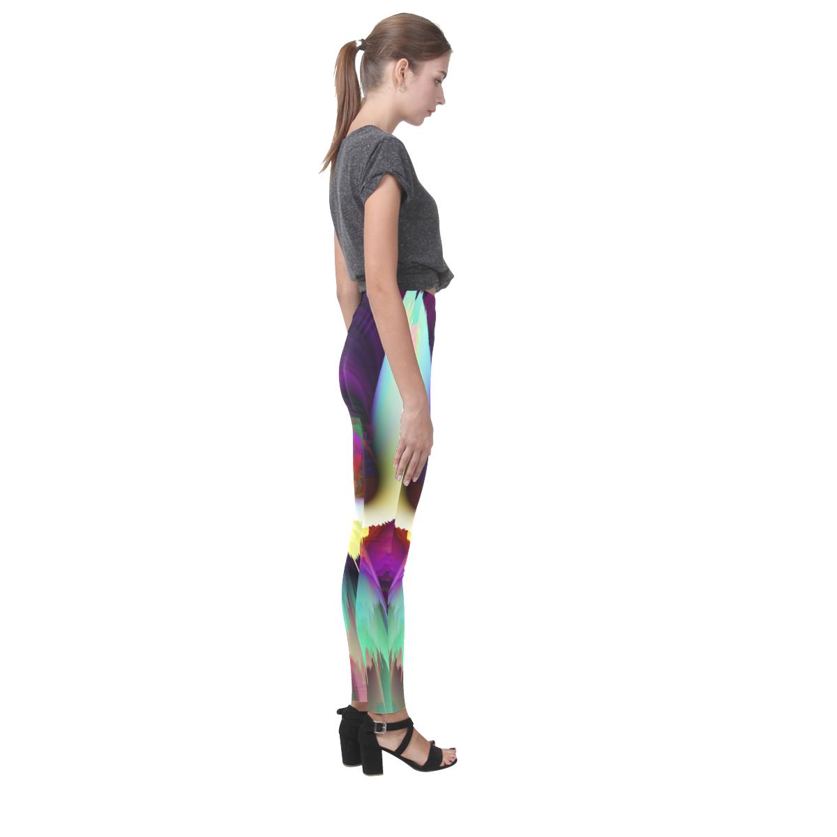 3d flower bird Cassandra Women's Leggings (Model L01)