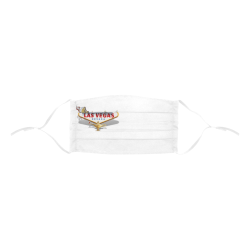 Las Vegas Welcome Sign Pleated Mouth Mask with Drawstring (Model M06)