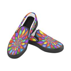 RAINBOW SKITTLES Women's Slip-on Canvas Shoes (Model 019)
