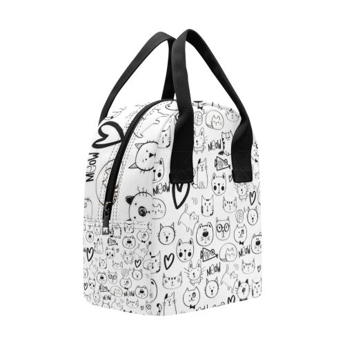 Meow Cats Insulated Zipper Lunch Bag (Model 1689)