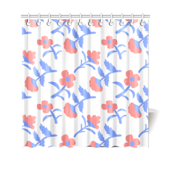 "Fantasy flowers Shower Curtain 69""x70"""