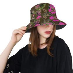 Elegant Roses Piink Multi All Over Print Bucket Hat