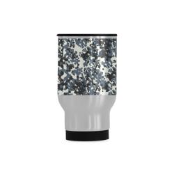 Urban City Black/Gray Digital Camouflage Travel Mug (Silver) (14 Oz)