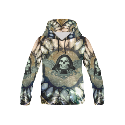 Awesome scary skull All Over Print Hoodie for Kid (USA Size) (Model H13)