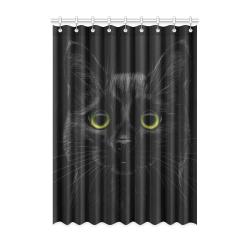 "Black Cat Window Curtain 52"" x 72""(One Piece)"
