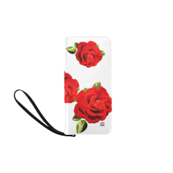 Fairlings Delight's Floral Luxury Collection- Red Rose Women's Clutch Purse 53086a Women's Clutch Purse (Model 1637)