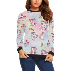 Coffee and sweeets All Over Print Crewneck Sweatshirt for Women (Model H18)