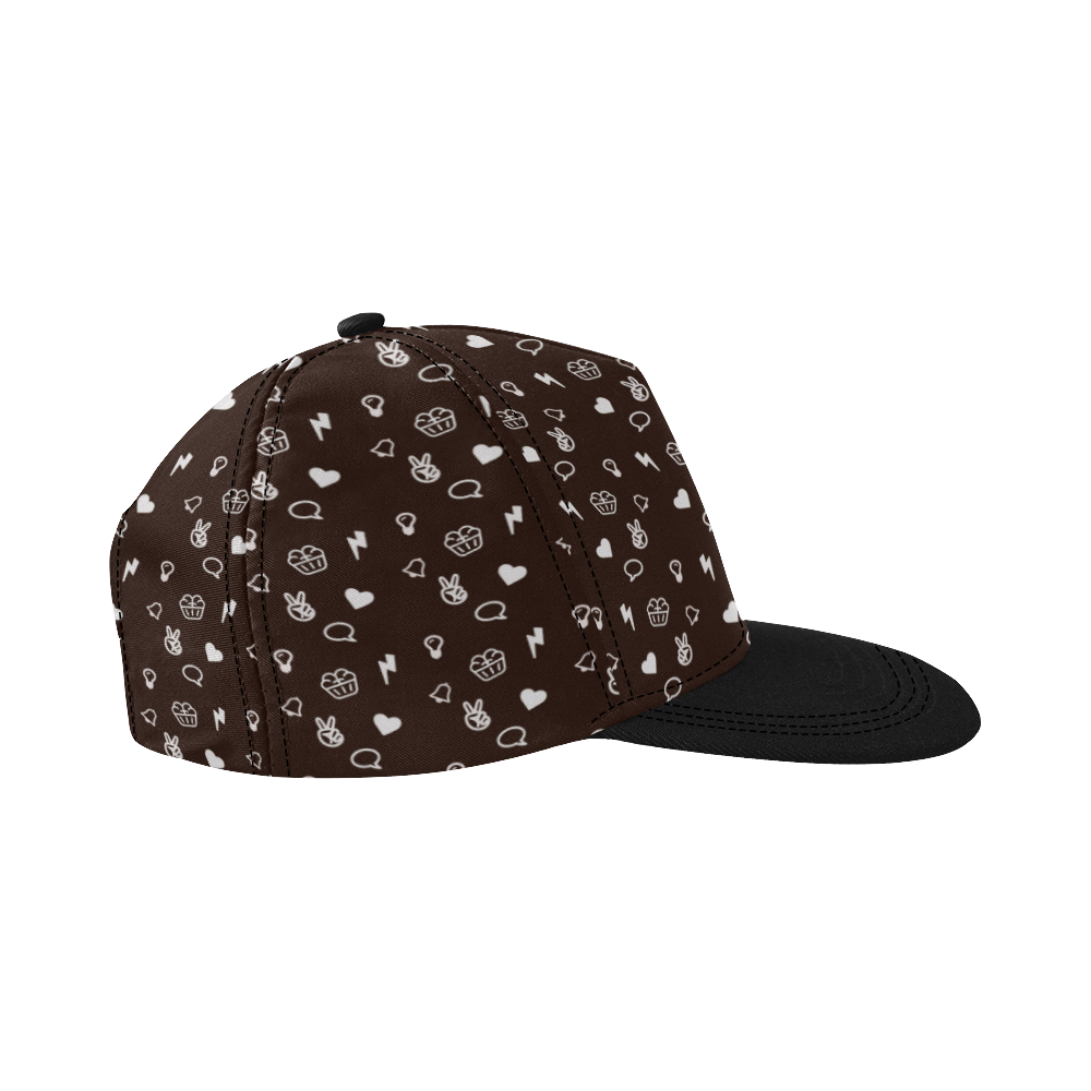 Mindbakery Merch Pattern Snapback All Over Print Snapback Hat D