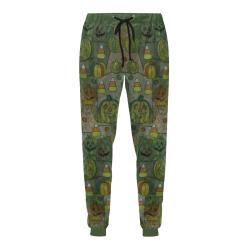 Halloween Pumkin amouflage by Nico Bielow Men's All Over Print Sweatpants (Model L11)