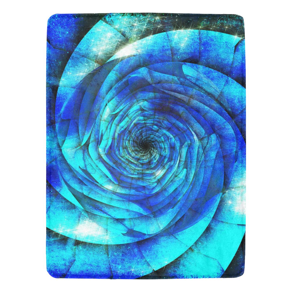 "Galaxy Wormhole Spiral 3D - Jera Nour Ultra-Soft Micro Fleece Blanket 60""x80"""