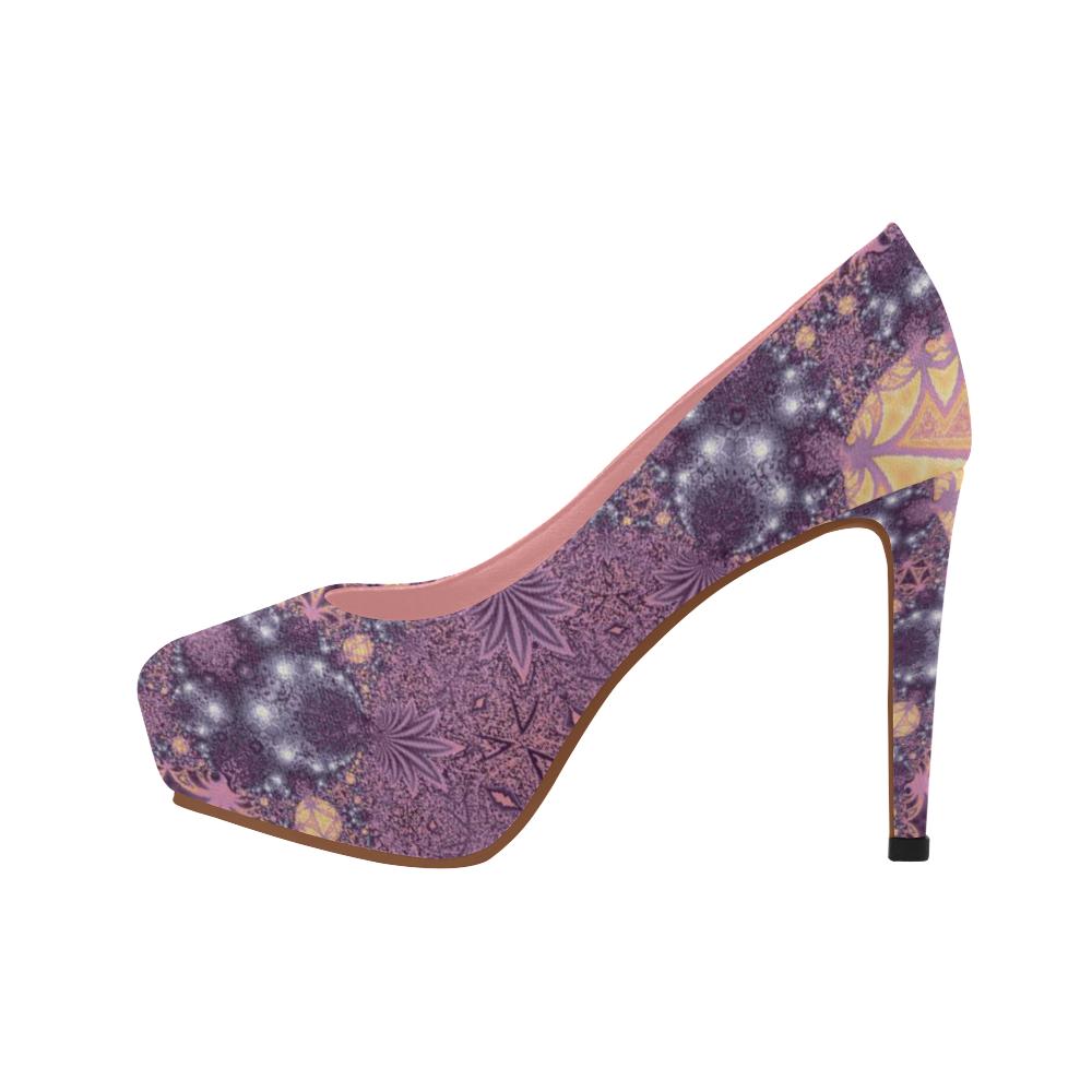 Soft Colourful Tropics Women's High Heels (Model 044)