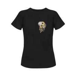 steampunk initials B brooch Women's Classic T-Shirt (Model T17)