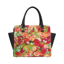 red flower Classic Shoulder Handbag (Model 1653)