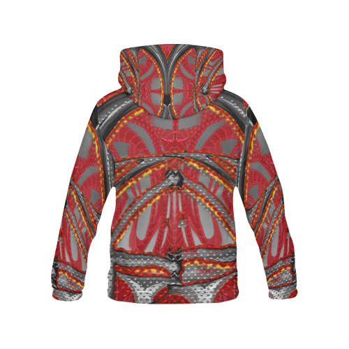 Gold Red Wear Crew All Over Print Hoodie (for Men)