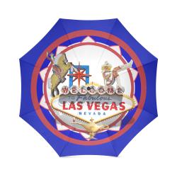 LasVegasIcons Poker Chip - Vegas Sign Foldable Umbrella (Model U01)